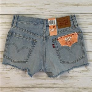 Levi's 501 Button Fly  Distressed Jean Shorts